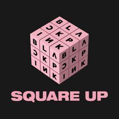 Comeback do Blackpink com Square Up Album Blackpink, Album Songs, Blackpink Square Up, Kpop Logos, Blackpink Debut, Yg Entertaiment, Kpop Diy, Blackpink Poster, Cute School Supplies