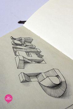 Moleskine illustration #23: Help. (typography)   Flickr - Photo Sharing!