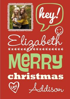 Personalized Christmas greeting cards from Treat.com