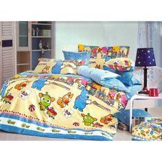 Modro žltá obliečka na detskú posteľ s motívom zvieratiek Comforters, Blanket, Bed, Home, Creature Comforts, Quilts, Stream Bed, Ad Home, Blankets