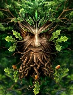Found in many cultures from many ages around the world, the Green Man is often related to natural vegetative deities. It is primarily interpreted as a symbol of rebirth, representing the cycle of growth each spring. Some speculate that the mythology of the Green Man developed independently in the traditions of separate ancient cultures and evolved into the wide variety of examples found throughout history. #celtic