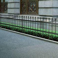 Ornamental Sikkerhed Palisade Stål Hegn med Spidst Top Sort 100 cm