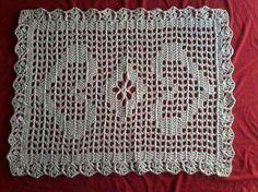 Tapete em crochet - 67 corentinhas e ponto alto na quinta ..