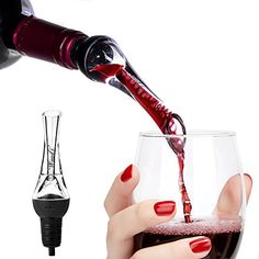 Wuudi Premium Wine Aerator Deluxe Bar Equipment Wine Aerating Pourer Breathes Wine Straight from The Bottle Red Wine Accessory * See this great product.