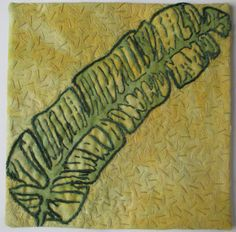 Week #34,yr2 soy wax on hand dyed fabric, discharged, hand embroidery