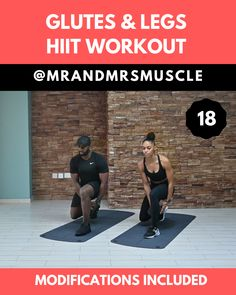 Glutes Workout - HIIT with Modifications!-Glutes Workout – HIIT with Modifications! Pin, Tag and Share with a squat lover! Try this intense, fun and fat burning Glutes and Legs HIIT Workout today! Fitness Workouts, Full Body Hiit Workout, Hiit Workout At Home, Hitt Workout, Gym Workout Videos, Fitness Workout For Women, Squat Workout, Tabata Workouts, Tummy Workout