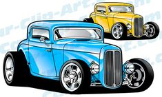 Vector hot rod clip art, truck clip art, and car clip art for t-shirts and more. Hot Rods, Car Drawing Pencil, 1955 Chevy Bel Air, Ford Convertible, Cool Car Drawings, Hot Rod Pickup, 1932 Ford, Truck Art, Hot Rod Trucks