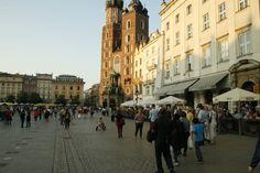 The Main Square of Krakow Poland