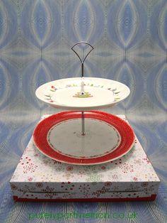 Portmeirion Christmas Wish 2 Tier Cake Stand
