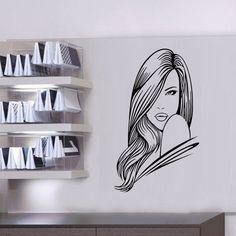 Mulheres Sexy vinil removível decalque adesivos para bar de cabelo salão de beleza decoração DIY meninas decalques mural(China (Mainland))