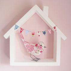 Personalised Fabric Bird, Baby Pink. £50.00, via Etsy.