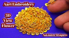 View Flower Aari Embroidery Using Zardosi And Jamikki Zardosi Embroidery, Aari Embroidery, Embroidery Works, Hand Designs, Flower Designs, Designer Blouse Patterns, Blouse Designs, Sugar Beads, Types Of Stitches