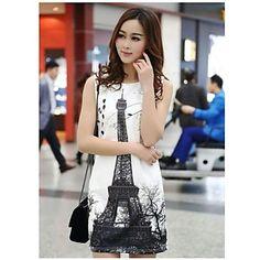 Vestidos sin mangas delgado coreano de la manera de las mujeres – USD $ 21.59