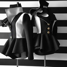 Nicci Hou Collection Color Block Peplum Jacket