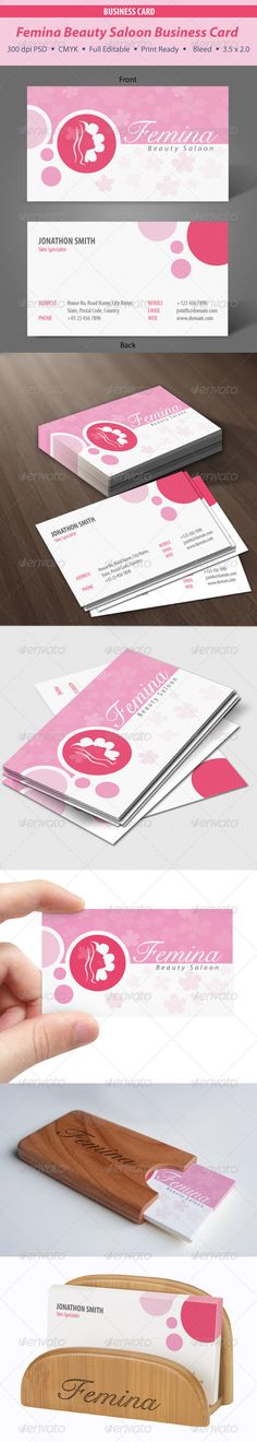 Femina Beauty Saloon Business Card #GraphicRiver 3.5×2 inch original 3.75×2.25 inch with blade Photoshop PSD File 300 DPI CMYK Full Layered and Editable All in One File Editable Text and Logo A details Guide line file included with Font name and download link Font Used Cygnet Round : .fontpalace /font-details/CygnetRound/ MyriadPro-Cond : .fontpalace /font-details/MyriadPro-BlackCond/ Myriad Pro Cond : .fontpalace /font-details/MyriadPro-Cond/ MyriadPro Italic : .fontpalace…