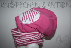 Weiteres - Set Winter-Beanie & -Loop mit Stern, rosa - ein Designerstück von knoepfchenundanton bei DaWanda