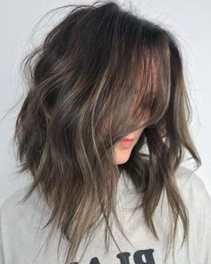 Hair goals color haircolor haircuts ideas for 2019 Cool Tone Brown Hair, Ashy Brown Hair, Brown Hair With Blonde Highlights, Brown Ombre Hair, Brown Hair Balayage, Ombre Hair Color, Light Brown Hair, Cool Hair Color, Brown Hair Colors