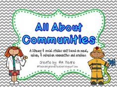 Communities Unit for First and Second Grade