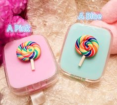 Lollipop Design Pocket Mini Cute Contact Lens Case Travel Kit Easy Carry Mirror case by AlonmyCrystalCrafts on Etsy https://www.etsy.com/listing/289710735/lollipop-design-pocket-mini-cute-contact