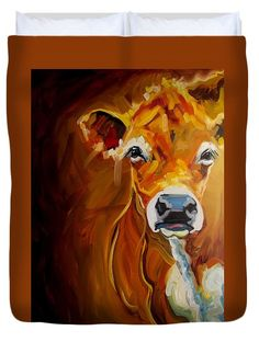 Love Cow Duvet Cover by Diane Whitehead
