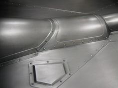 Bead Rolled sheetmetal.  Trans hump. Floorboard