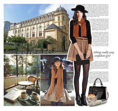 """""""Starting classes at the Sorbonne"""" by dreamer-ela ❤ liked on Polyvore"""