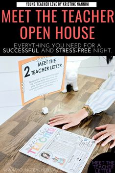 How to Plan Your Meet the Teacher Open House Night - Young Teacher Love Need tips for how to plan your Meet the Teacher Open House night? This post provides a meet the teacher editable template, parent letter, and other ideas. Letter School, Letter To Teacher, Letter To Parents, Parents As Teachers, Parent Letters, Survival Kit For Teachers, Teacher Survival, Teacher Hacks, Teacher Stuff