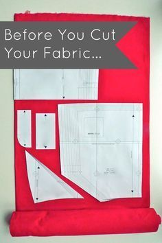 Here's great advice for what to do with your fabric BEFORE cutting out your garment! Tilly and the Buttons: Before You Cut Your Fabric... LEARN TO SEW SERIES (Tips for Beginners)