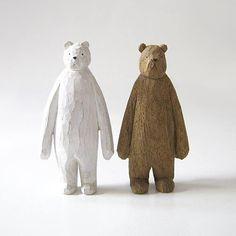 carved wood bear — Designspiration