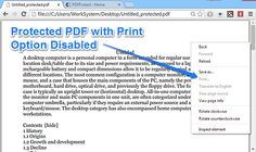 PDF Protect: Free Software To Bulk Protect PDF Documents