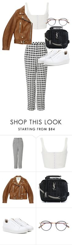 """""""Untitled #22258"""" by florencia95 ❤ liked on Polyvore featuring Topshop, Acne Studios, Yves Saint Laurent, Eytys and Garrett Leight"""