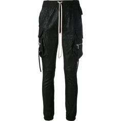 Rick Owens cargo jogging trousers (2,800 CAD) ❤ liked on Polyvore featuring black and rick owens