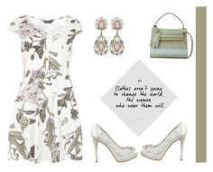 """""""Floral Sweetheart Dress"""" by dana-debanks ❤ liked on Polyvore featuring Dorothy Perkins, GUESS and Valentino"""