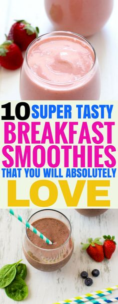 These tasty breakfast smoothies are the best! I'm so happy I've found some more great breakfast ideas that are easy to make and taste so good! Pinning this for later!