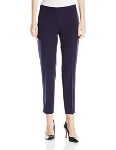 Anne Klein Womens Slim Leg Pant Dark Indigo 4 * Read more at the image link. (This is an affiliate link) Patent High Heels, Slim Legs, Work Pants, Anne Klein, Trousers, Women's Pants, Indigo, Capri Pants, Pants For Women