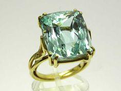 Frediani - Joaillier Aquamarine & Yellow Gold Ring