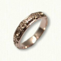 14kt Rose Gold Custom Personalized Wedding Band - Straight Edges - Available In All Metals and Sizes