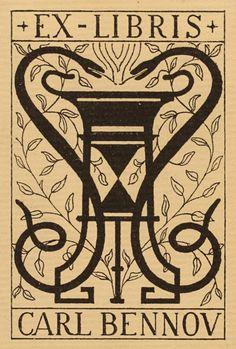 ≡ Bookplate Estate ≡ vintage ex libris labels︱artful book plates - Einar Andersen for Carl Bennov