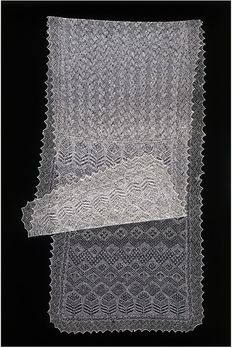 Shawl. Amy Johnston. Place of origin:  Baltasound, Scotland (made), 1935,   Knitted shetland wool
