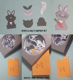 Rabbit Punch Art. Using Foxy Friends Stamp Set and Foxy Builder Punch from Stampin' Up!