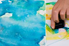 easy art for kids - ice cube painting