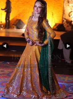 Latest Asian Bridal Wedding Gowns Designs collection consists of best Asian gown styles & designs for bridals by Indian & Pakistani designers! Pakistani Mehndi Dress, Bridal Mehndi Dresses, Pakistani Wedding Outfits, Bridal Dress Design, Pakistani Dress Design, Pakistani Wedding Dresses, Bridal Outfits, Bridal Lehenga, Indian Dresses