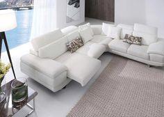 sofa esquinero piel blanca - Buscar con Google