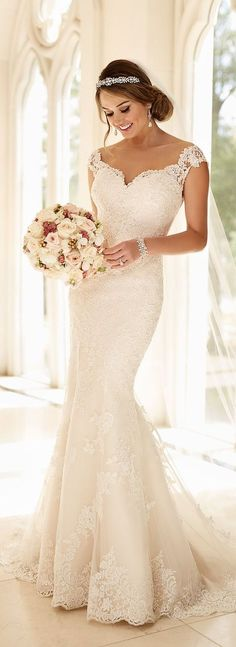 Off-the-Shoulder Wedding Dress by Stella York Spring 2016