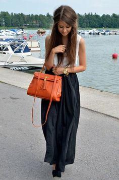 Pinterest board: @desi_galapagos  maxi casual look