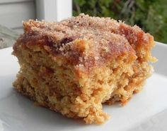 Oh yes Karen's house smells terrific. Cinnamon Sugar Apple Cake.   Used coconut oil instead of oil in cake and the butter in the topping. Added 1/2 cup rolled oats to the cake. Also used yogurt instead of buttermilk. Used brown sugar for topping. Very easy. Guess I rewrote the recipe.