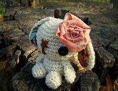 Lulu the Amigurumi Bunny - Ivory by WyandotteWears on Etsy, $12.50