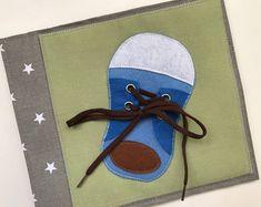 Ruhiges Buch Seite, Buch beschäftigt, sensorische Spielzeug für Kinder mit Schuhe