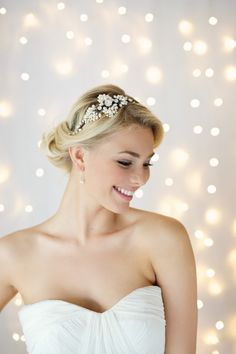 Fresh water pearl and diamante headdress from the Victoria Fergusson's 'The Goddess Collection' – Exceptional Handmade Bridal Accessories | Love My Dress® UK Wedding Blog
