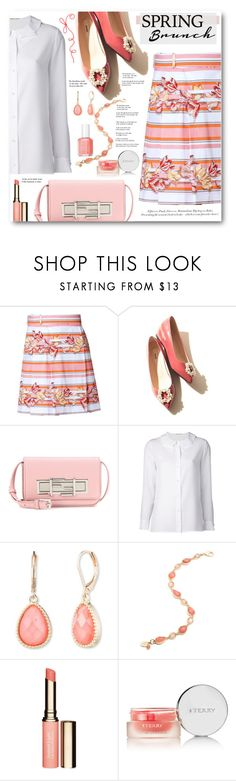 """Spring Brunch"" by brendariley-1 ❤ liked on Polyvore featuring Salvatore Ferragamo, Fendi, Yves Saint Laurent, H&M, Vintage America, Clarins, Essie and By Terry"
